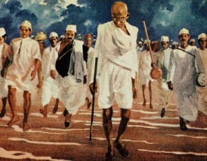 gandhi-saltmarch--art-from-Kamat.com